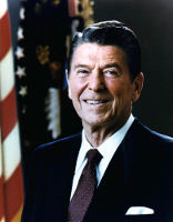American President Ronald Reagan