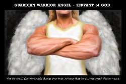 Guardian Warrior Angel Art