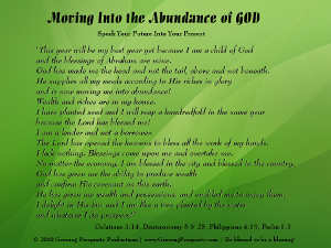 Moving Into the Abundance of God Christian Meditation