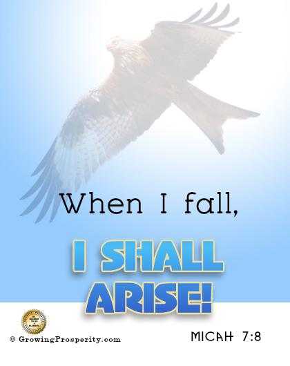 When I fall I shall arise!